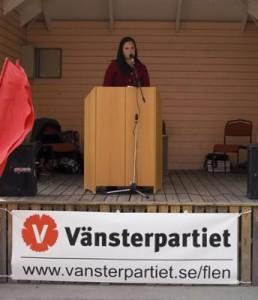 Emmie Särnstedt var huvudtalare vid 1 majfirandet