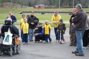 Prisutdelningsceremoni vid Hammarvallen