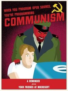 Är opensource detsamma som kommunism?