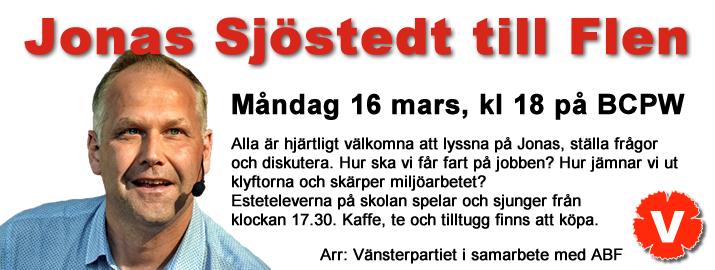 Jonas Sjöstedt till Flen