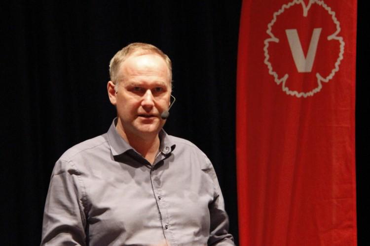 Jonas Sjöstedt besökte Flen