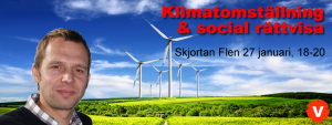Banner: Klimatomställning och social rättvisa